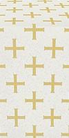 Eufrosinia metallic brocade (white/gold)