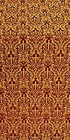 Small Ligouriya metallic brocade (claret/gold)