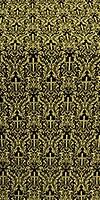 Small Ligouriya metallic brocade (black/gold)