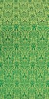Small Ligouriya metallic brocade (green/gold)