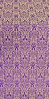 Small Ligouriya metallic brocade (violet/gold)
