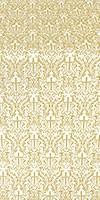 Small Ligouriya metallic brocade (white/gold)