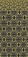 Simbirsk silk (rayon brocade) (black/gold)