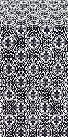 Simbirsk silk (rayon brocade) (black/silver)