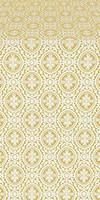 Simbirsk silk (rayon brocade) (white/gold)