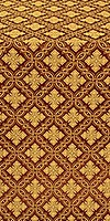 Mirgorod silk (rayon brocade) (claret/gold)