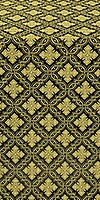 Mirgorod silk (rayon brocade) (black/gold)