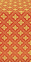 Mirgorod silk (rayon brocade) (red/gold)