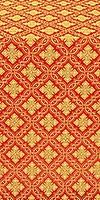 Mirgorod metallic brocade (red/gold)