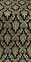 Small Tavriya metallic brocade (black/gold)