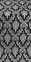 Small Tavriya metallic brocade (black/silver)