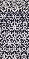 Venets silk (rayon brocade) (black/silver)