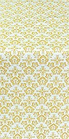 Venets silk (rayon brocade) (white/gold)