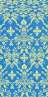 Fevroniya silk (rayon brocade) (blue/gold)