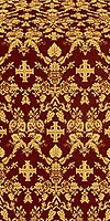 Fevroniya silk (rayon brocade) (claret/gold)