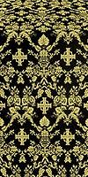 Fevroniya silk (rayon brocade) (black/gold)