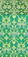 Fevroniya silk (rayon brocade) (green/gold)