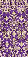 Fevroniya silk (rayon brocade) (violet/gold)