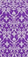 Fevroniya metallic brocade (violet/silver)