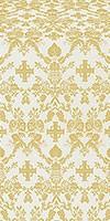 Fevroniya silk (rayon brocade) (white/gold)