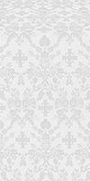 Fevroniya silk (rayon brocade) (white/silver)