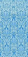 Ligouriya metallic brocade (blue/silver)
