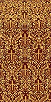 Ligouriya metallic brocade (claret/gold)