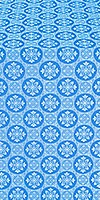 Poutivl' silk (rayon brocade) (blue/silver)
