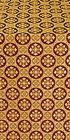 Poutivl' metallic brocade (claret/gold)