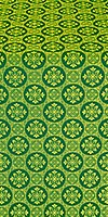 Poutivl' silk (rayon brocade) (green/gold)