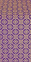 Poutivl' metallic brocade (violet/gold)