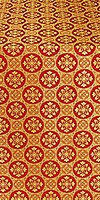 Poutivl' silk (rayon brocade) (red/gold)