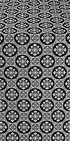 Poutivl' silk (rayon brocade) (black/silver)