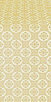 Poutivl' silk (rayon brocade) (white/gold)