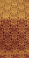 Klionik metallic brocade (claret/gold)
