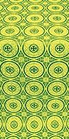 Samara metallic brocade (green/gold)