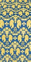 Chalice metallic brocade (blue/gold)