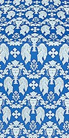 Chalice metallic brocade (blue/silver)