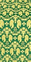 Chalice metallic brocade (green/gold)