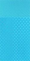 Small Cross metallic brocade (blue)