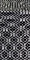 Small Cross metallic brocade (black/silver)