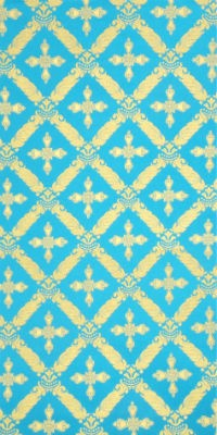Polistavrion metallic brocade (blue/gold)