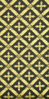 Polistavrion metallic brocade (black/gold)