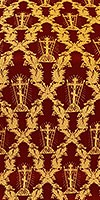 Golgotha metallic brocade (claret/gold)