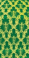 Golgotha metallic brocade (green/gold)