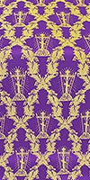 Golgotha metallic brocade (violet/gold)