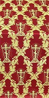 Golgotha metallic brocade (red/gold)
