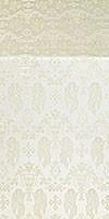 Golgotha metallic brocade (white/silver)