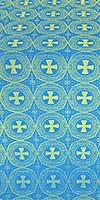 St. George Cross metallic brocade (blue/gold)
