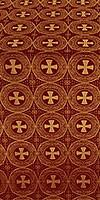 St. George Cross metallic brocade (claret/gold)